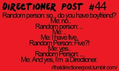 Yes. I am a Directioner.