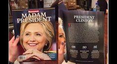 Una revista dio la victoria a Clinton antes del resultado electoral - http://aquiactualidad.com/hillary-clinton-madam-president-revista-newsweek/