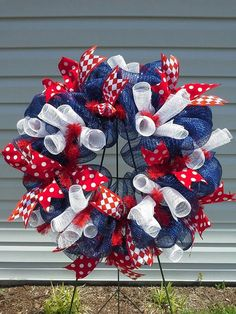 Wreths By Kristy | Bright and Bold Mesh Wreath by EastCarolinaGirl on Etsy, ... | Wreaths