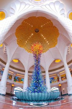 Atlantis hotel ..Dubai..decor by Dale Chihuly