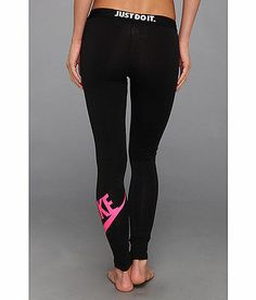 NWT Just Do It Nike Fitted Pants Tights Leggings Size SMALL Black and Pink