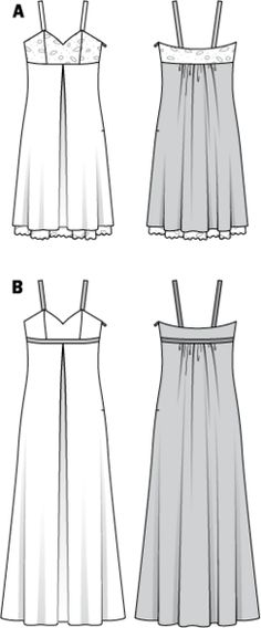 Schnittmuster: Abendkleid, Cocktailkleid - Empire-Linie - Download - Abendkleider - Festliche Mode - Damen - burda style