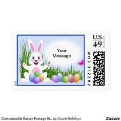 Customizable Easter Postage Stamps