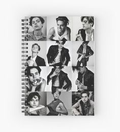 COLE Sprouse collage Riverdale Spiral Notebook
