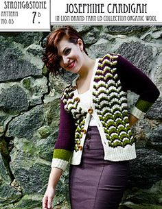 We love Rohn Strong's vintage style Josephine Sweater in LB Collection Organic Wool - stunning combo! (Ravelry Pattern)