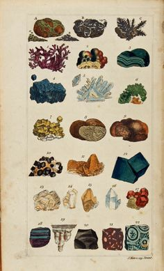 Mawe, John (1826). Lovely minerals, old fashioned care and attention to detail.