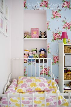 toddler girl room with cute wall decor Decorative Bedroom Blue Girls Rooms, Little Girl Rooms, Girl Bedroom Designs, Girls Bedroom, Bedroom Ideas, Toddler Rooms, Toddler Bed, Kids Rooms, Cute Wall Decor