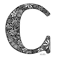 'Letter C' by Shaseldine Framed Prints, Canvas Prints, Art Prints, Coloring Letters, Floor Pillows, Throw Pillows, Letter C, Comfy Bed, Creative Cards