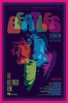 Beatles poster, by Kii Arens Beatles Poster, Les Beatles, Beatles Art, Beatles Photos, Gig Poster, Poster Wall, Rock Posters, Band Posters, Concert Posters