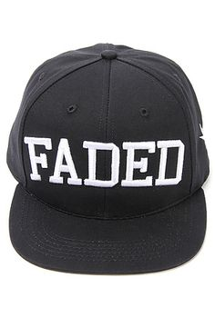 Faded Royalty The Faded Logo Snapback Cap in Black. hats are adornments, right?