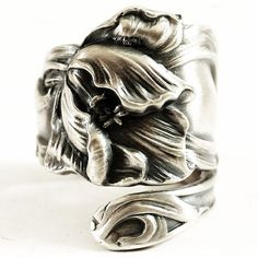 Etremely Art Nouveau Sterling Silver Tulip Floral by Spoonier