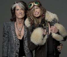 'We're two old snow leopards': Joe Parry, left, and Steven Tyler, right, were known as the Toxic Twins