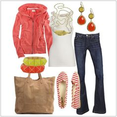 CHATA'S DAILY TIP: Breeze from winter into spring with this gorgeous ensemble! An on-trend casual tangerine jacket will keep you warmer on chillier days, or nights. Opt for a slightly longer length if you have a fuller body shape. Complete the look with colour co-ordinated accessories. COPY CREDIT: Chata Romano Image Consultant, Mirella Pearson http://chataromano.com/consultant/mirella-pearson/ IMAGE CREDIT: Pinterest #chataromano #imageconsultant #colour #style #fashion