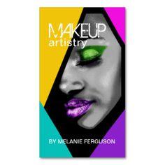 Beauty Business Cards, Makeup Artist Business Cards, Business Card Design, Creative Business, Car Card, Retro Makeup, Salon Business, Shops, Makeup Artistry