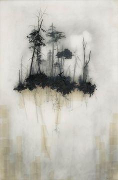 likeafieldmouse:    Brooks Salzwedel- Reflection (2010) - Mixed media