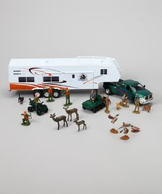 Take a look at this Pickup Truck & Hunting Camper Set by New-Ray Toys on #zulily today! $29 !!