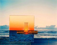 """Sunset"", photo collages by Carolin Reichert."