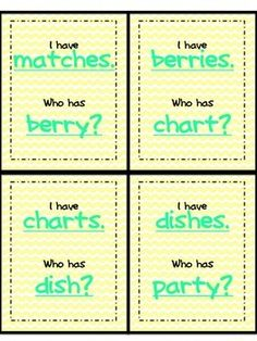 This is a game of I Have Who Has that would be great as an introduction or review of plural nouns. Instead of the cards having the exact word the previous asks for, it has the plural form. This makes the children think a little harder. It is a good idea to have the children say what rule was used to make each word plural.