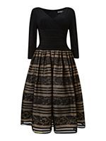3/4 Sleeve Lace Skirt Dress