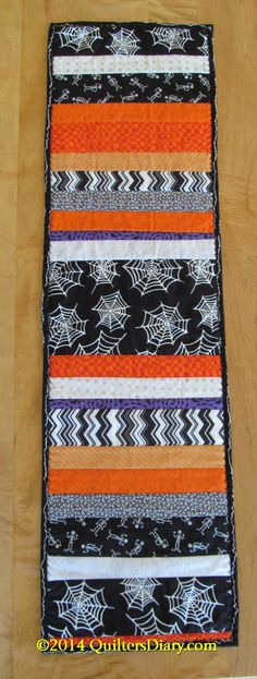 Halloween Quilt-as-You-Go Table Runner
