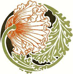 "adayume: "" Circular designs from Combinaisons Ornamentales by M. Verneuil, George Auriol and Alphonse Mucha. Motifs Art Nouveau, Design Art Nouveau, Art Nouveau Flowers, Art Nouveau Pattern, Art And Illustration, Botanical Illustration, Art Nouveau Tattoo, Alphonse Mucha, Chalk Pastel Art"