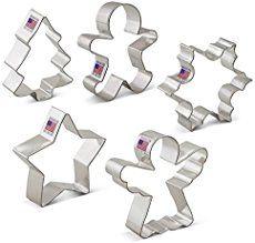 "Ann Clark 4 1//2 /""  Christmas Tree Star Cookie Cutter  Tin Plated Steel USA New"