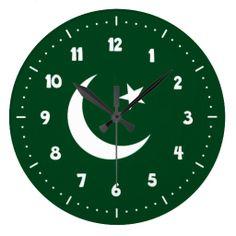 Pakistani flag clocks