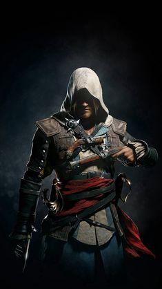 Assassins Creed 4 Dark Game Art Illust #iPhone #5s #wallpaper