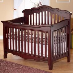 Lusso Nursery Ravenna Crib With Toddler Rail French White