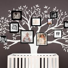 Our Family Tree Wall Decal provides a one-of-a-kind backdrop for your photo gallery wall inspiration Available in Chestnut Brown Black or any custom color from our color chart Add your Family Tree Decal, Tree Decals, Wall Decals, Family Trees, Wall Stickers, Baby Boy Rooms, Baby Room, Brown Walls, Inspiration Wall
