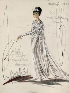 Edith Head sketch for Shirley MacLaine in What A Way To Go! (1964)