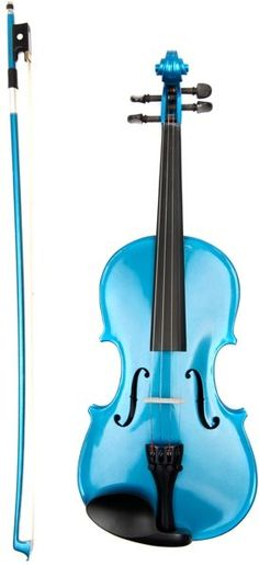 Metallic Blue Violin and bow by Archetto