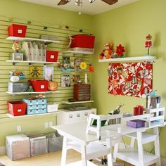 Some tips and tricks for setting up a craft room to get the most out of your space. Whether you have a whole room or just a corner in your garage!