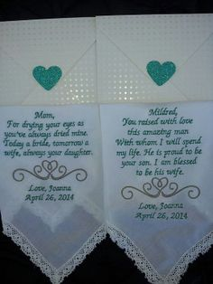 Embroidered Wedding Handkerchief Mother of the by lacymonogramming, $43.00