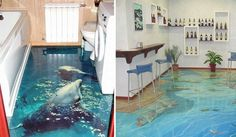 3D Bathroom Floors Can Bring the Ocean Right to Your Own Home.