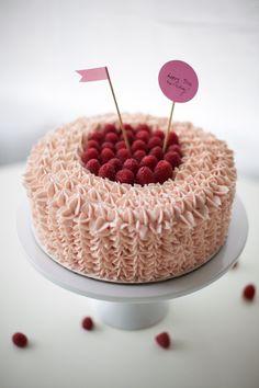 Razzed + Jazzed: Raspberry Vanilla Buttercream Cake - Coco Cake Land