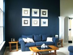 Living room wall decor bedroom decoration living room paint colors popular of living room painting and Navy Living Rooms, Dark Blue Living Room, Living Room Interior, Home Decor Bedroom, Room Decor, Blue Bedroom, Dark Bedrooms, Bedroom Ideas, Room Paint Colors