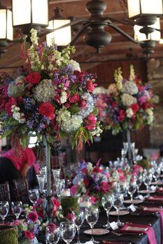 centre de table hortensias multicolores #centerpieces #wedding #weddingdecor #hydrangeas