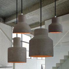 Concrete Oslo Minimalist Pendant Light #beton #ceiling-light #clean