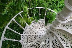 Of course you should have a cast iron spiral staircase in the garden!
