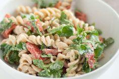 Arugula and Goat Cheese Pasta Salad. Prepare 3/4 lb of short pasta ...