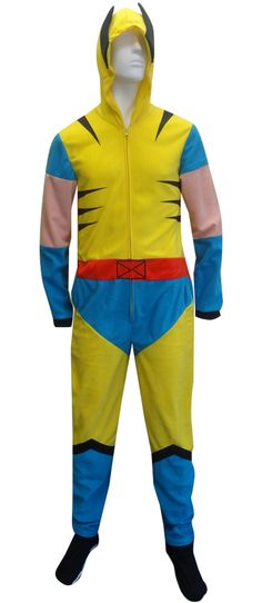 Marvel Comics Wolverine Hooded Fleece Onesie Pajama Watch out, Hugh Jackman, there's a new Wolverine in town! These awesome foo...