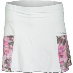 Have it all with Denise Cronwall Women's Wyn Pocket Tennis Skort! Soft, feminine and functional with a built in ball pocket. This skort has two back pockets with a layer of Wyn print fabric under a flattering solid color layer. Built-in shorts provide coverage too! Now your curves will be in all the right places! SPF 40+ provides protection from the sun's harsh rays. This skort coordinates well with all of the pieces in the Wyn Collection from Denise Cronwall!