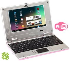 WolVol (Pink) 7 inch Mini Laptop WIFI/Camera Android 4.1, osCommerce Online Merchant Administration Tool
