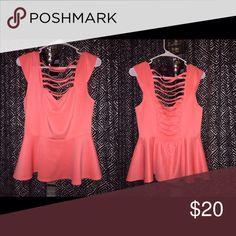 Peach blouse Cute peach colored blouse Deb Tops
