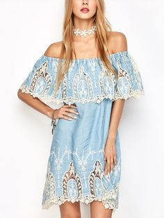SHARE & Get it FREE | Crochet Overlayed Off The Shoulder DressFor Fashion Lovers only:80,000+ Items • New Arrivals Daily • FREE SHIPPING Affordable Casual to Chic for Every Occasion Join Zaful: Get YOUR $50 NOW!