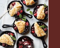 These mini berry cobblers are the cutest ever!  -  Wedding Food: Mini Appetizers!