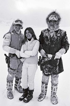 Mark Hamill, Carrie Fisher and Harrison Ford | Star Wars Set