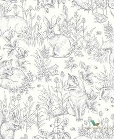 The wallpaper Forest Friends - 8890 from Boråstapeter is a wallpaper with the dimensions x m. The wallpaper Forest Friends - 8890 belongs to the popul Tier Wallpaper, Nursery Wallpaper, Wallpaper Samples, Animal Wallpaper, Home Wallpaper, Black Wallpaper, Screen Wallpaper, Wallpaper Quotes, Bts Wallpaper