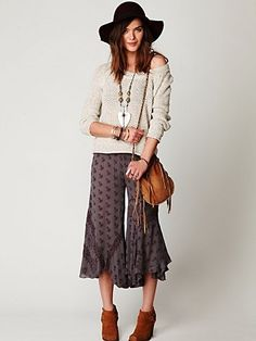 Free People FP ONE Print Coulotte Pant at Free People Clothing Boutique - StyleSays